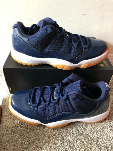 "08d528a80cd Air Jordan 11 XI Retro Low ""Midnight Navy Gum"" 528895 405 Sz 10.5 NEW"