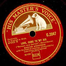 "MARION ANDERSON -CONTRALTO- ""Samson & Delilah"" Love, come to my aid 78rpm  G3483"