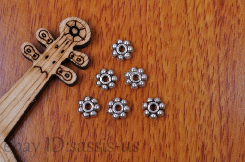 50pcs 6mm Charm snow flower spacer bead Diy Jewelry Making For Bracelet 7186