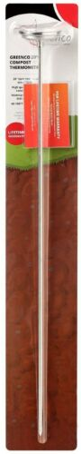 """Premium Compost or Soil Thermometer with 20/"""" Stainless Steel Stem"""