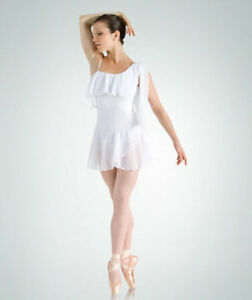 43a34a6e7 IN STOCK Lyrical Greek Drape Dress Dance Costume White Size 3 Adult ...