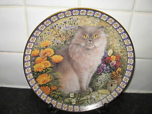 CATS-AMONG-THE-FLOWERS-PLATE-REGINALD-IN-MARIGOLDS-DANBURY-MINT