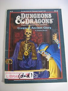 Dungeons & Dragons Crown of Ancient Glory X13 Expert/Companion Adventure 9218