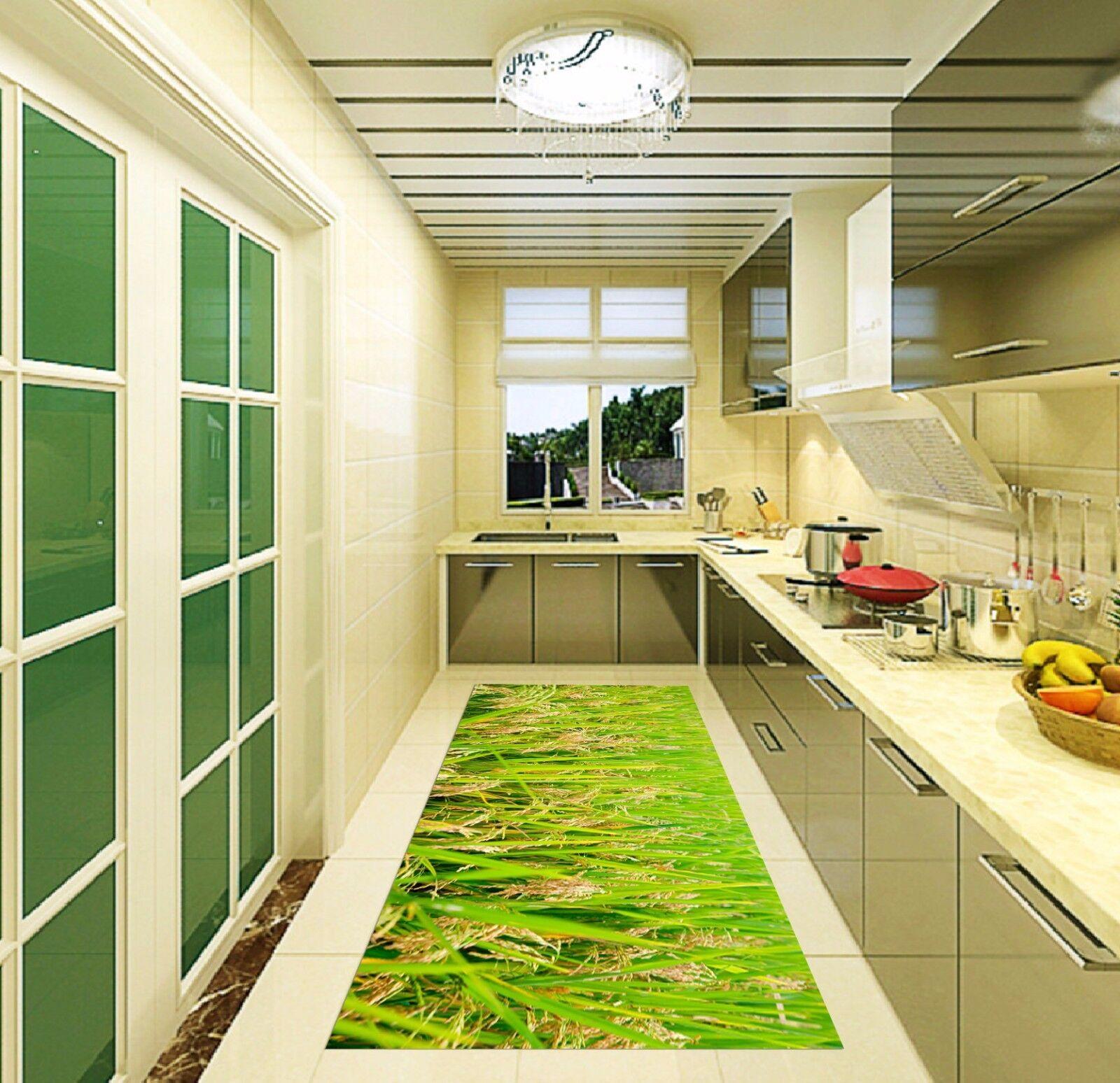 3D Grün Straw 822 Kitchen Mat Floor Murals Wall Print Wall AJ WALLPAPER UK Kyra