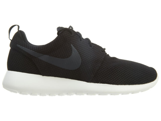 the latest 33541 160cd Nike Roshe Run Mens 511881-010 Black Sail Anthracite Mesh Running Shoes  Size 10