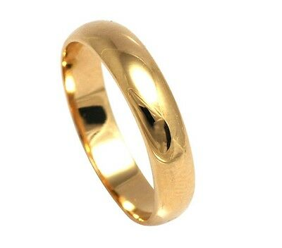 18ct Gold Filled D Shape, His and Hers 4mm band width, Engagement Wedding Ring