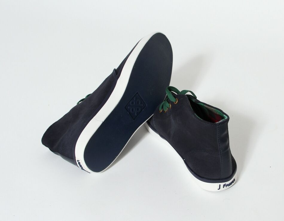 J.Fabian Herren Schuhe Ricky Mid High Freizeit Top Sneaker blau Halbschuh Freizeit High Canvas 043d61