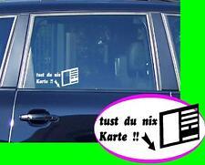 du nix Karte Auto nix verkaufen  Autohändler gebraucht Wagen Aufkleber Sticker