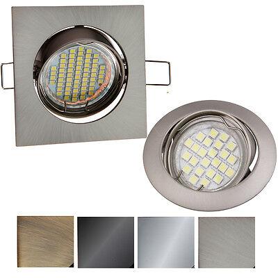 Einbaustrahler GU10 Schwenkbar  Rund Eckig Einbauleuchte Spot LED PORTOK-2