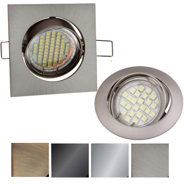 Einbau-Strahler GU10 Schwenkbar  Rund Eckig Einbauleuchte Spot LED PORTOK-2