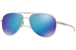 52a4c9a42cd oo4119-15 60 Oakley Sunglasses Elmont Satin Chrome Prizm Sapphire ...