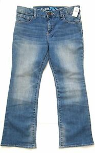 NWT-Gap-Kids-1969-Denim-Jeans-8-plus-Boot-Cut-Adjustable-Waist-Stretch