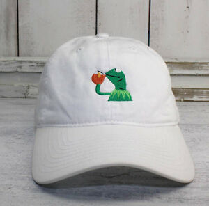 ae50eabf311 None of My Business Kermit Meme Baseball Cap Curved Bill Dad Hat 100 ...