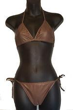 Wet Look Women Super Hot 2 Pc Set Swimsuit Sexy Bikini Dance-wear Lingerie Beach