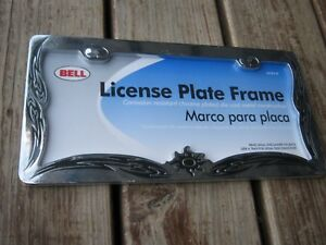 New-Old-Stock-BELL-Chrome-Plated-Die-Cast-Metal-License-Plate-Frame-only-one