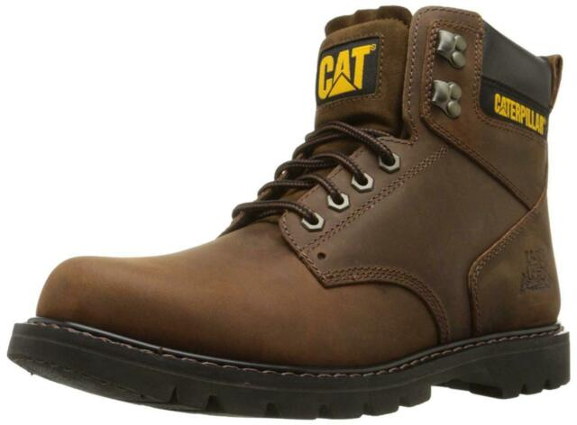 Caterpillar Mens second shift Leather Soft toe Lace Up, Dark Brown, Size 9.5