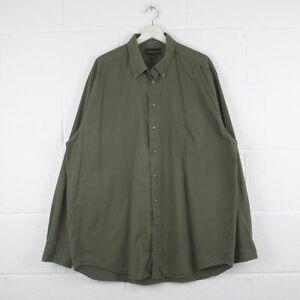 Vintage-Croft-amp-Barrow-vert-kaki-Chemise-En-Coton-Taille-Homme-XL-Tall