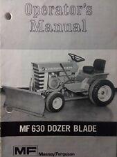 Massey Ferguson Mf 10 Mf 12 14 Garden Tractor Implement Dozer Blade Owner Manual