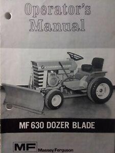 Massey Ferguson Mf 10 Mf 12 14 Garden Tractor Implement Dozer Blade Owner Manual Ebay