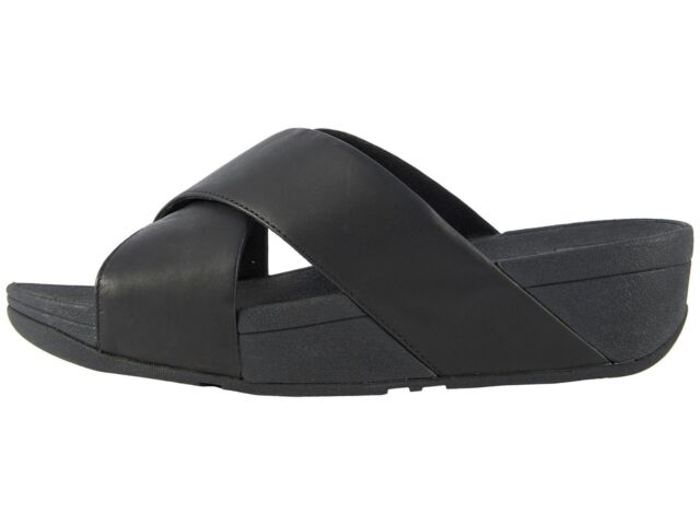 3d2eb5343d33 FitFlop Lulu Cross Slide Sandals 793 Black 8 US   39 EU for sale ...