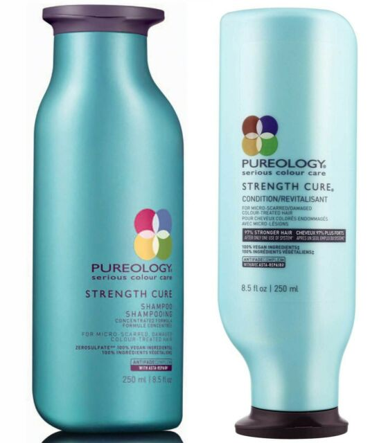 PUREOLOGY STRENGTH CURE SHAMPOO 250 ML AND CONDITIONER 250 ML DUO