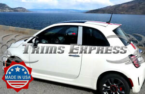 2010-2018-Fiat-500-2Dr-2Pc-Chrome-Pillar-Post-Stainless-Steel-Trim-Door-Cover