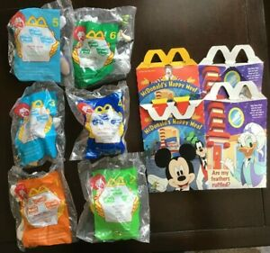 Disney-House-of-Mouse-McDonald-039-s-Happy-Meal-Toys-2001-Complete-set-of-6-MIP