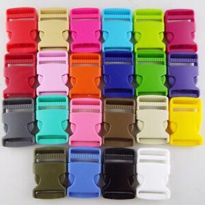 22 Colour 30mm Plastic Side Release Clip Buckle Webbing