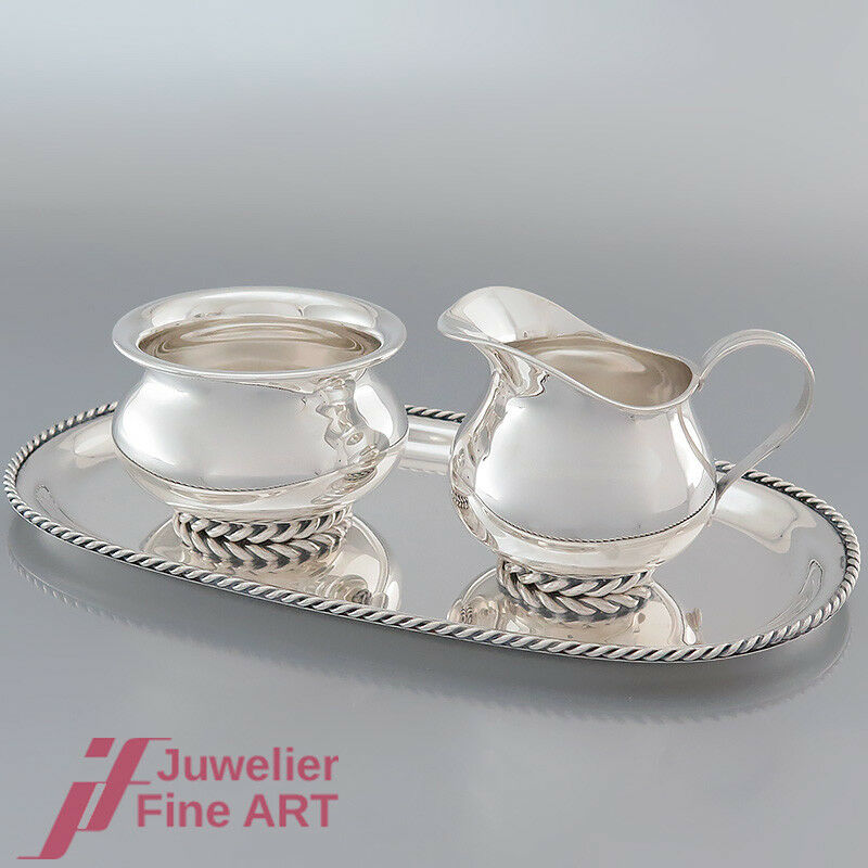 Chollo  leche y azúcar set - 835 plata-fabricante alemán