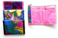 NEW COLORFUL Trifold velcro canvas wallet Choose from 3 designs £3.49 Free P&P