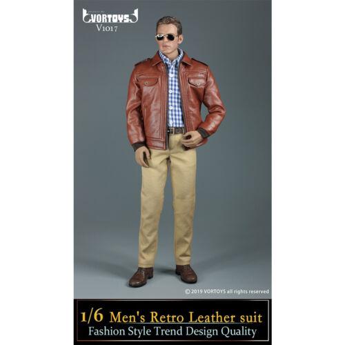 VORTOYS 1//6 V1017 Men/'s Retro Leather Suit Fashion Style Male Clothing Set New
