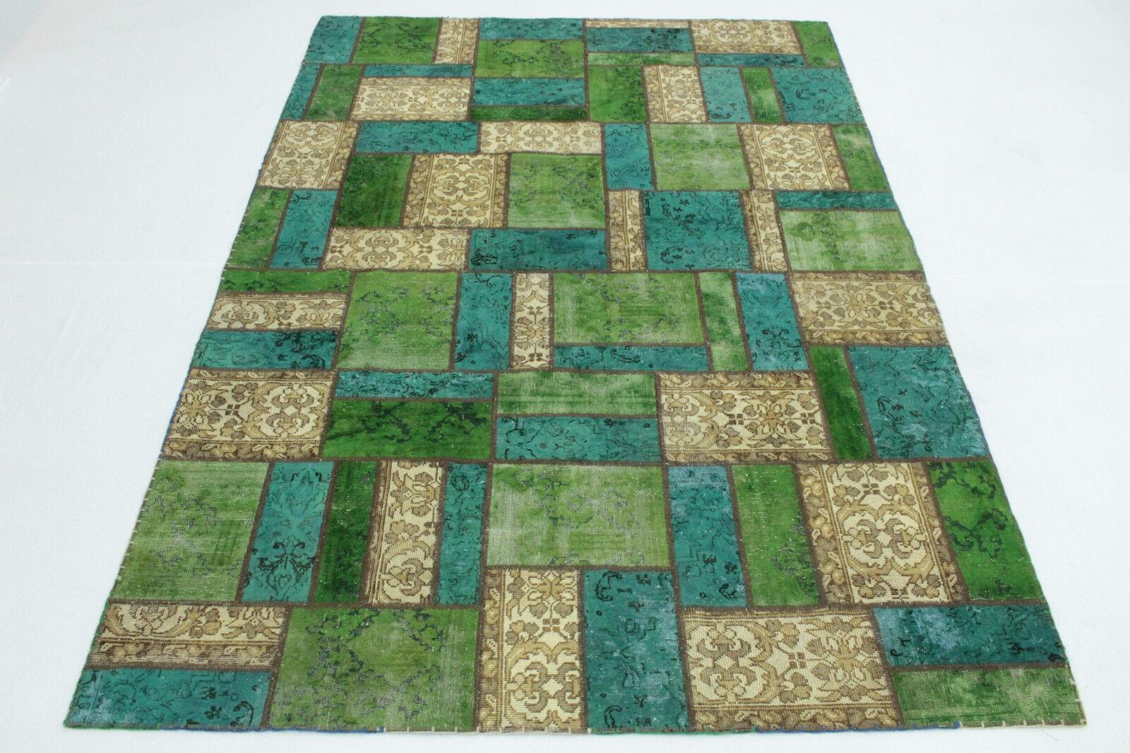 Tappeto Moderno Turchese : Patchwork vintage vintage vintage tappeto orientale beige turchese