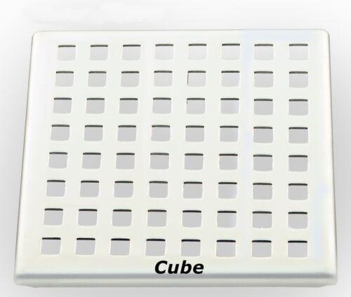 Floor Drain Bath Drain DN50 Ultra Flat with Stainless Steel Rack 120 x 120 mm