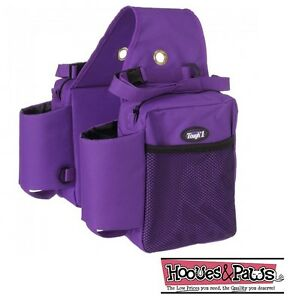 TOUGH-1-PURPLE-Trail-Deluxe-Heavy-Duty-Saddle-BAG-INSULATED-Horse-Tack