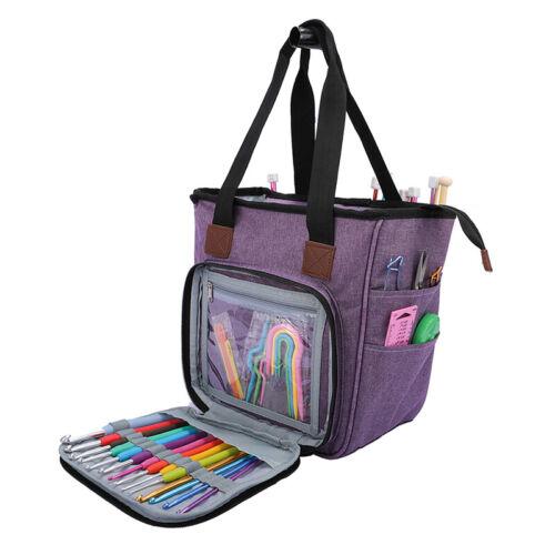 Portable Knitting Organizer Crochet Tote Bag Yarn Crochet Storage Bag Handbag S