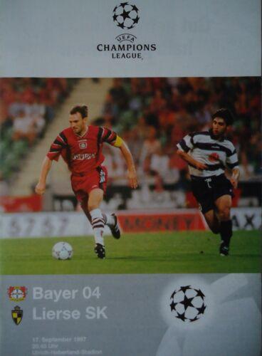 Lierse SK Programm UEFA CL 1997//98 Bayer Leverkusen