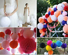 10Pcs Tissue Paper Lantern Flower Balls bell Pom Poms Party Wedding Home Decor