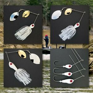 Bassdozer-spinnerbaits-DOUBLE-OKLAHOMA-WHITE-HOLOGRAM-D-spinner-bait-baits