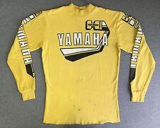 Yamaha Jersey Shirt 80s Vtg Yellow Mock Turtleneck Motocross Moto-X USA Men XL