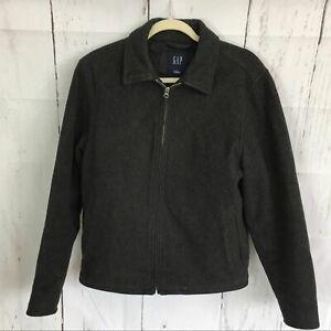 GAP-Gray-Wool-Blend-Zip-Up-Coat-Jacket-Size-S