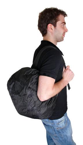 Large Black//Orange Adjustable Rucksack for Olympus OM-D E-M10 w// Rain Cover