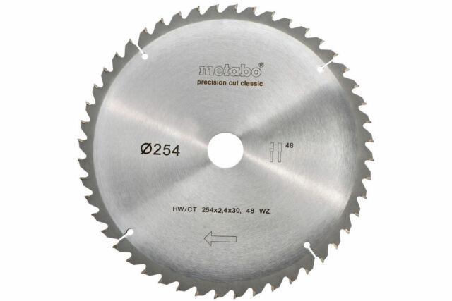 Metabo Kreissägeblatt für KGS 254 M Holz Spanplatten HW CT 254x30 mm 5°Neigung
