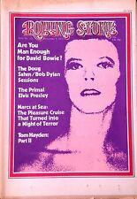 DAVID BOWIE DOUG SAHM BOB DYLAN HUNTER S THOMPSON ROLLING STONE NOVEMBER 9 1972