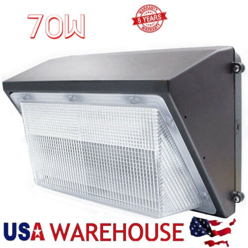 70W 100Watt LED Wall Pack Light Super Bright White Outdoor Landscape Garage Lamp
