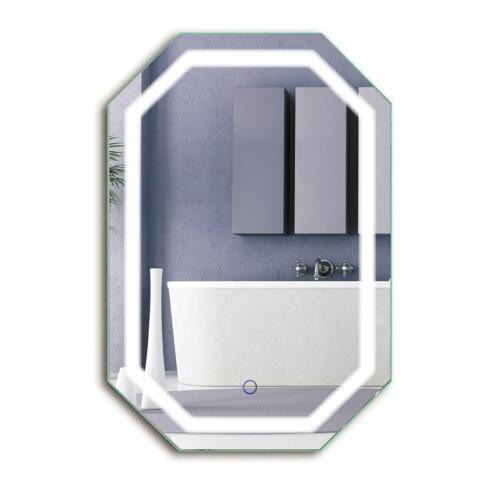 Octagon LED  Mirror 20 Inch X 30 InchLighted Wall Mount Vanity Mirror