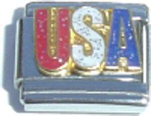 Italian-Charm-USA-Glitter-United-States-American-Proud