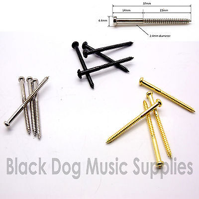 Bass guitar jazz pickup screws in chrome, black or Gold packs of 2,4,8 or 50
