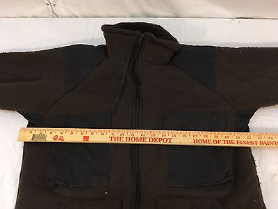 US GI Military Cold Weather Brown Bear Jacket Fleece Lined Tennier XL FITS LARGE