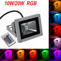 10W 20W 30W 50W RGB LED Flood Light Landscape Lamp IP65 Spotlight AC85-277V US