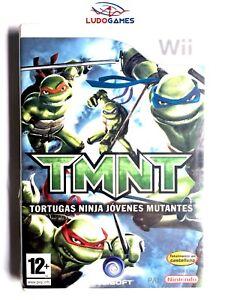 Tmnt-Tortues-Ninja-Jeunes-Mutants-Pal-Spa-Wii-Scelle-Neuf-Retro-Scelle